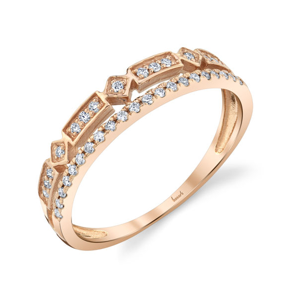 14kt Rose Gold Diamond Two in One Stackable Ring