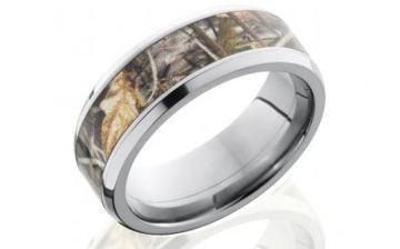 Titanium Men's Wedding Ring with Camo Inlay