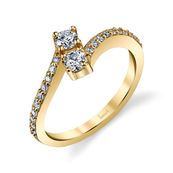 14Kt Yellow Gold Classic Two-Stone Diamond Ring