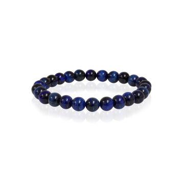 Italgem Men's Blue Tiger Eye Bracelet
