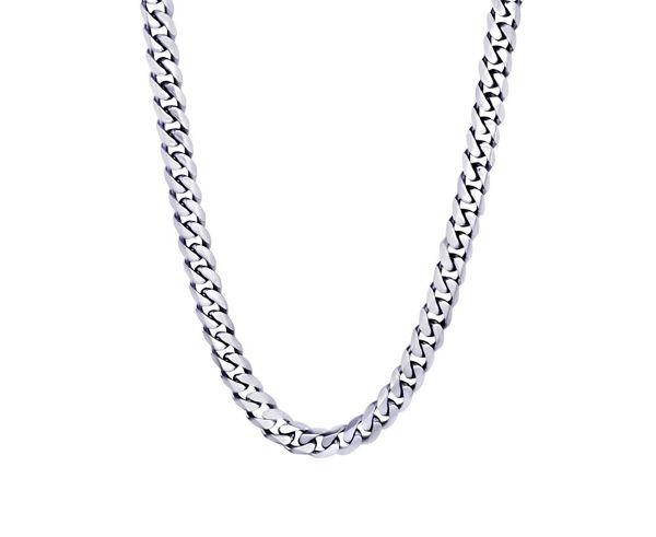 Italgem Men's 7.7mm Stainless Steel Chain