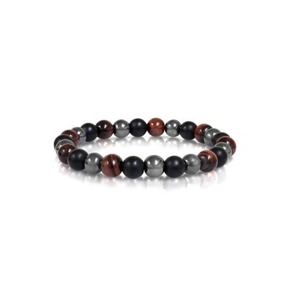 Italgem Men's Red Tiger Eye Bracelet