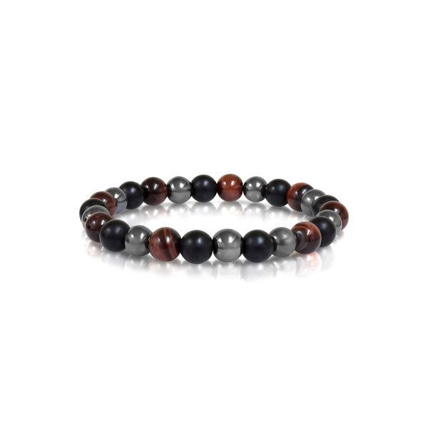 Italgem Men's Red Tiger Eye Bracelet