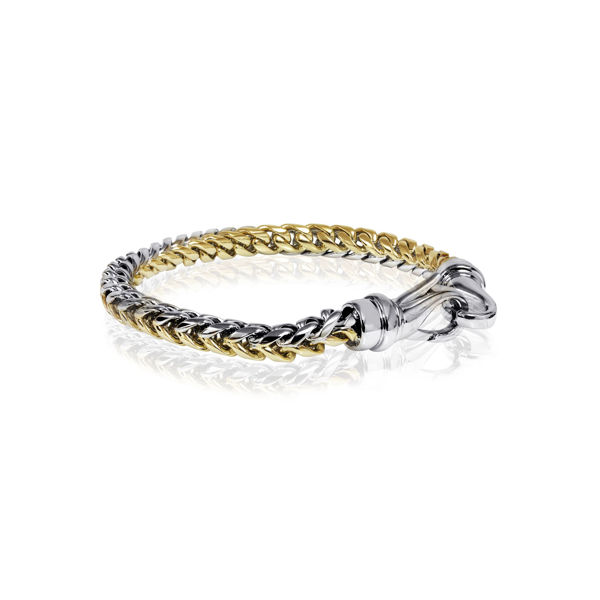 Italgem Men's 6mm Yellow and Stainless Ion Plated Bracelet