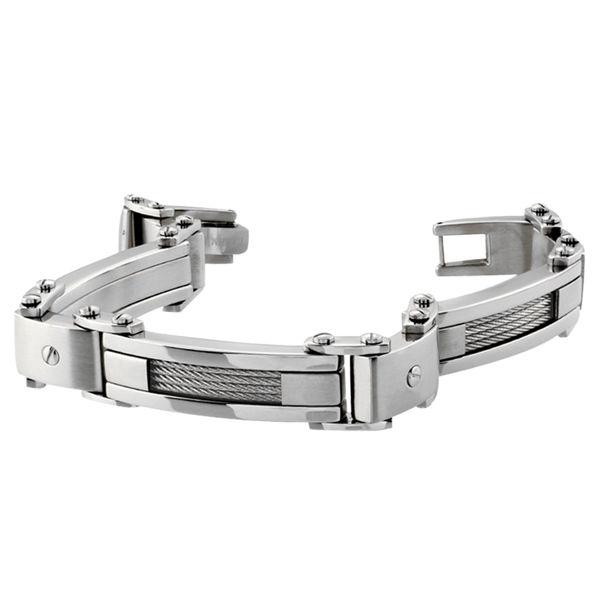 Italgem Men's Stainless Steel Bracelet with Cable Design