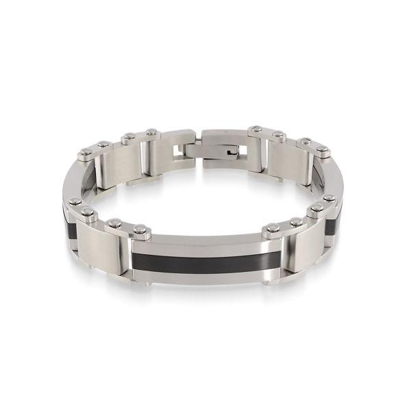 Italgem Men's Stainless Ion Plated Bracelet with Brushed Finish