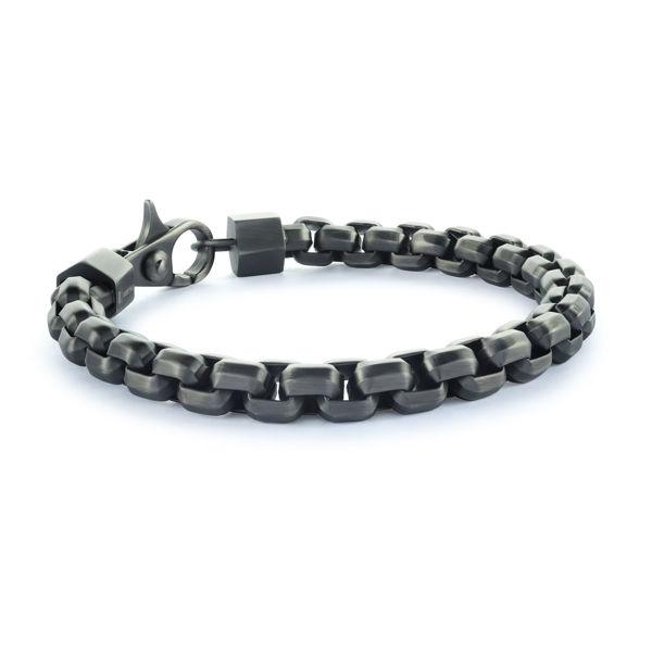 Italgem Men's Ion Plated Stainless Box Chain Bracelet