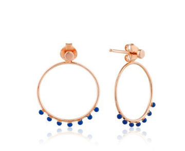 Dotted Front Hooip Earrings