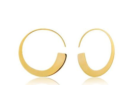 Ania Haie Geometry Slim Hoop Earrings