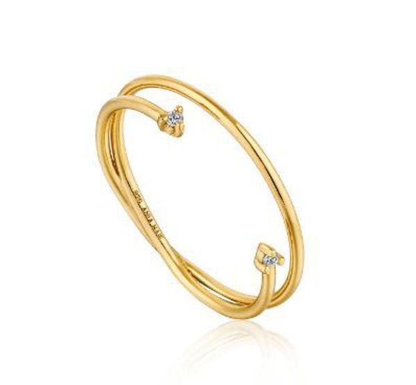 Ania Haie Shimmer Double Ring