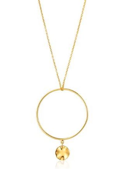 Ania Haie Ripple Circle Necklace