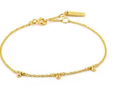 Ania Hai Shimmer Triple Stud Bracelet