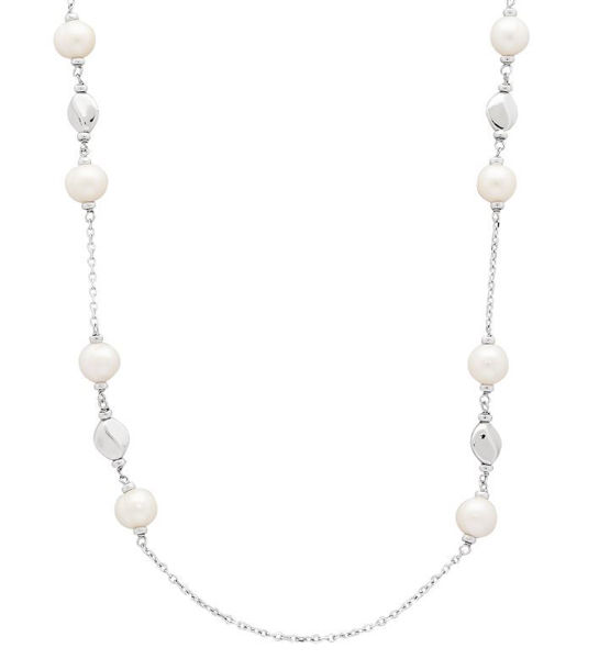Freshwater Pearl Dots and Dashes Necklace