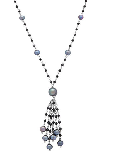 After Dark Freshwater Pearl Tassel necklace