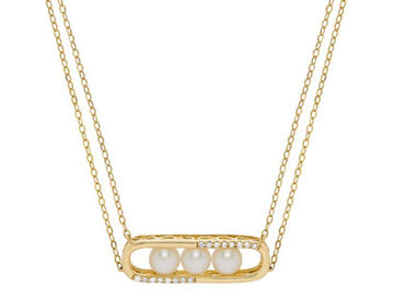 Wanderlust Cultured Pearl and Diamond Pendant
