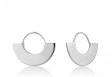 Ania Haie Geometry Fan Hoop Earrings
