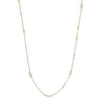 8.5-9mm Teardrop Pearl Pendant with Diamonds