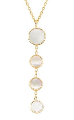 Geodescent Mother of Pearl Lariat Necklace