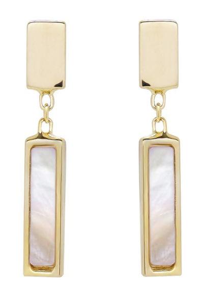 Geodescent dangle earrings