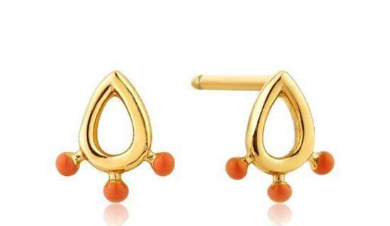Dotted Raindrop Stud Earrings