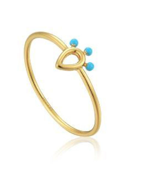 Ania Haie Dotted Raindrop Ring