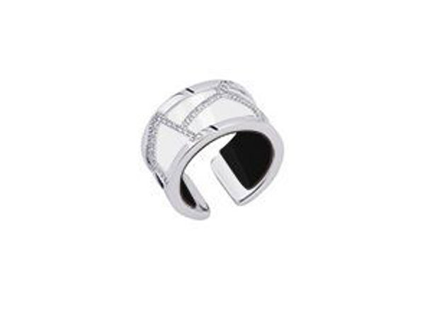 12mm Silver Girafe Ring with Cubic Zirconia-Large