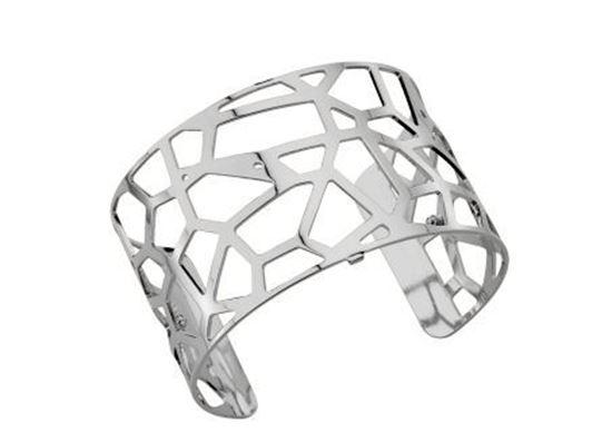 40mm Girafe Cuff Bracelet with Silver Finish