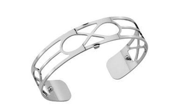 14mm Infini Cuff Bracelet in Silver