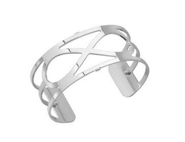 25mm Infini Cuff Bracelet in Silver