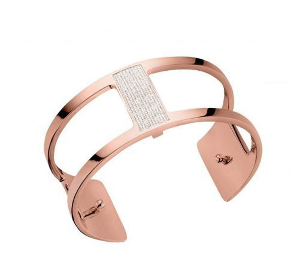 25mm Barrette Cuff Bracelet in Rose with Cubic Zirconia