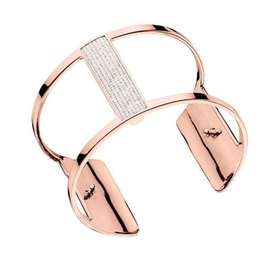 40mm Barrette Cuff Bracelet in Rose with Cubic Zirconia