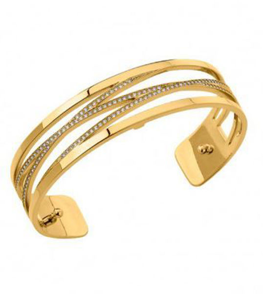 14mm Liens Cuff Bracelet in Yellow with Cubic Zirconia