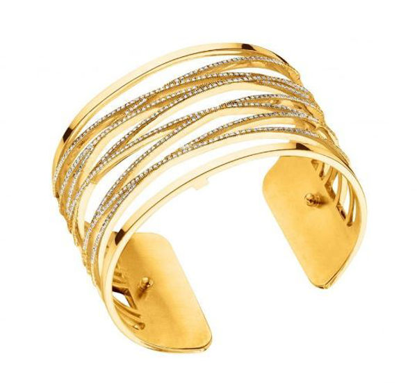 40mm Liens Cuff Bracelet in Yellow with Cubic Zirconia