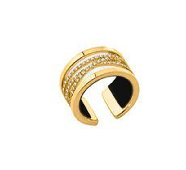 12mm Yellow Barrette Ring with Cubic Zirconia-Extra Large