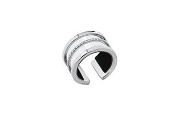 12mm Paralleles Ring in Silver with Cubic Zirconia. Size Small