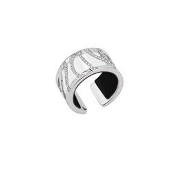 12mm Silver Perroquet Ring with Cubic Zirconia-Medium