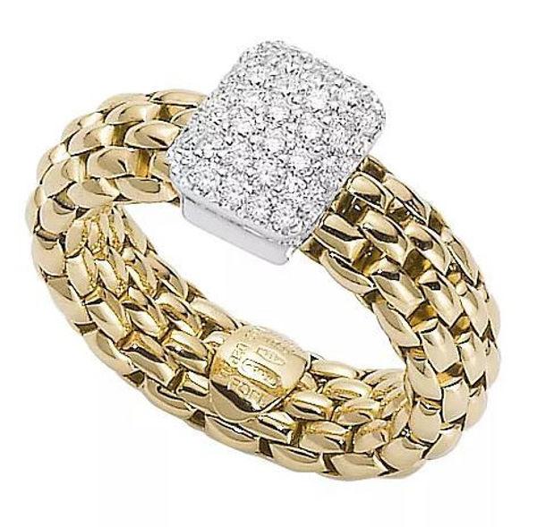 18Kt Yellow gold Vendome Flex it Stretch Ring