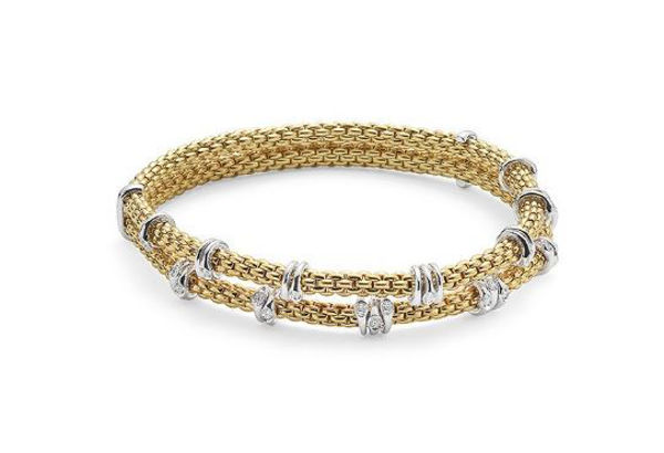 18Kt Yellow gold Flex it Bracelet from the Prima Collection