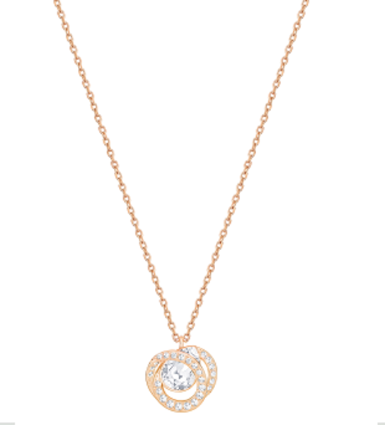 GENERATION PENDANT, SMALL, WHITE, ROSE GOLD PLATING