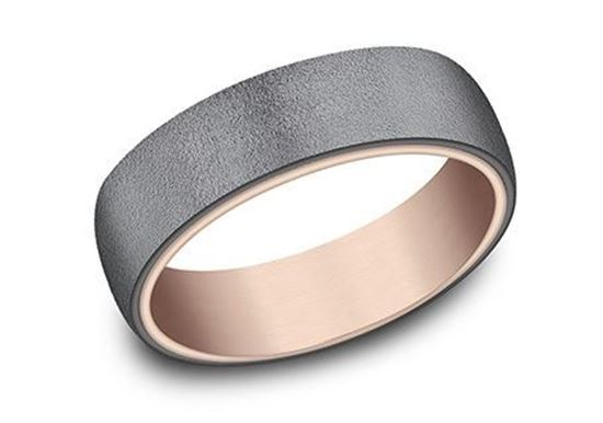 Ammara Stone Blackened Tantalum over 14Kt rose gold.