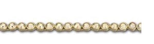 Bezel Set Golden Crystal Tennis Bracelet
