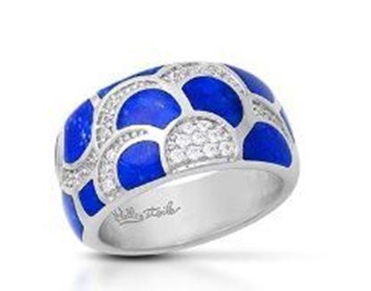 Sterling Silver Adina Genuine Lapis Lazuli Ring.
