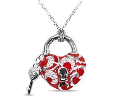 Key to My Heart Red Enamel