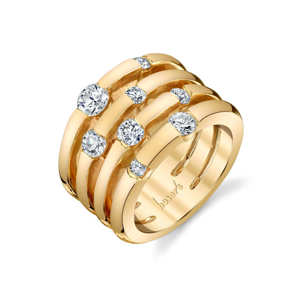 14kt Yellow Gold Scattered Diamond Heirloom Ring