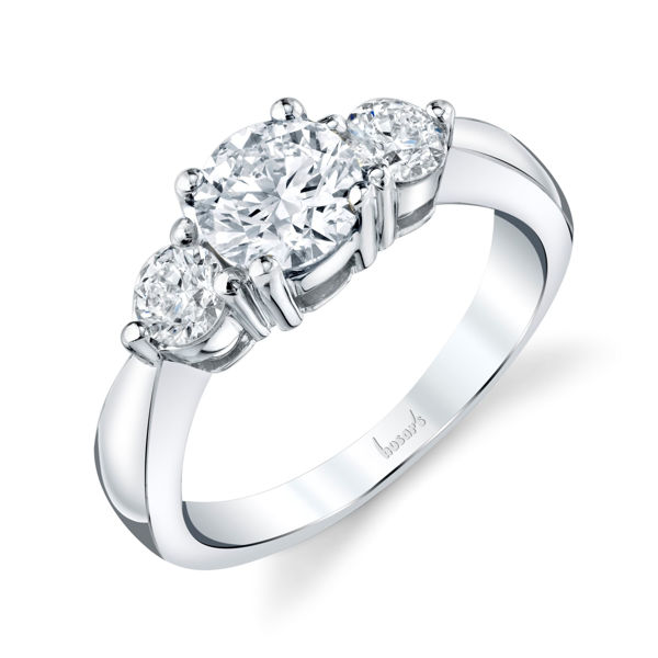 14kt White Gold Classic Three Stone Diamond Ring