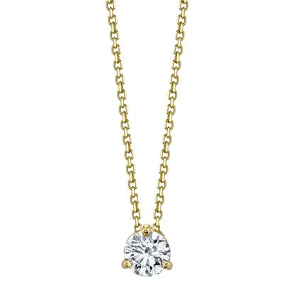 14kt Yellow Gold Diamond Solitaire Pendant