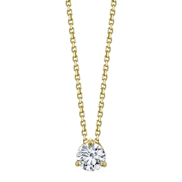 14kt Yellow Gold Diamond Solitaire Pendant