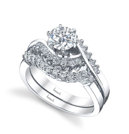 14kt White Gold Diamond Bypass Style Engagement Ring