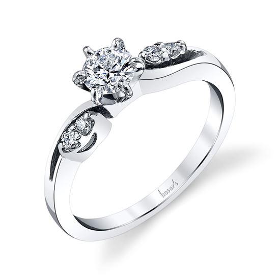 14kt White Gold Whimsical Engagement Ring