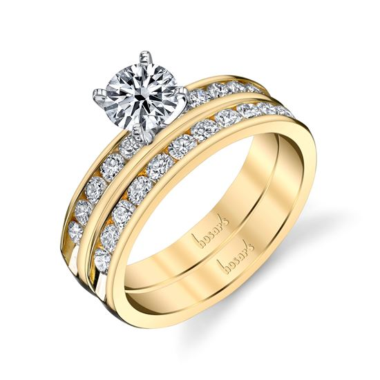 14kt Yellow Gold Timeless Channel Set Diamond Engagement Ring